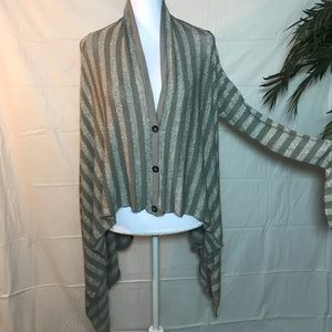 Hard Tail forever striped Cardigan NWOT